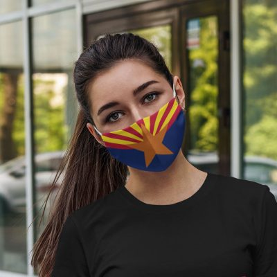 Flag of Arizona face mask