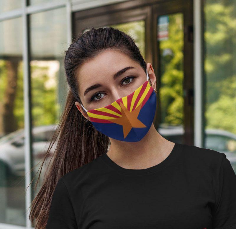 Flag of Arizona face mask