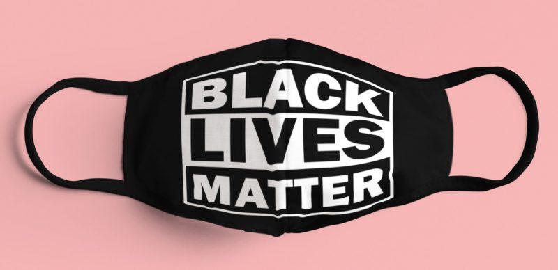 Black Lives Matter cloth face mask (color: black)