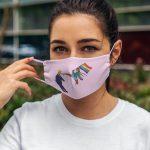 black girl LGBT kick Trump face mask