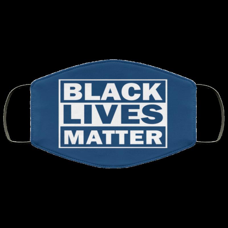 black lives matter face mask Navy
