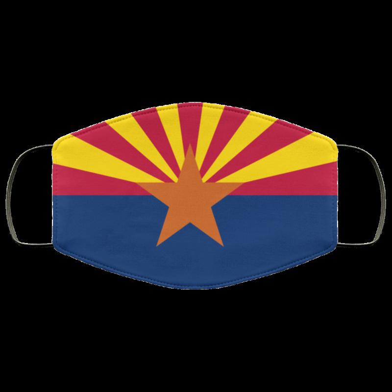 flag of Arizona cloth face mask