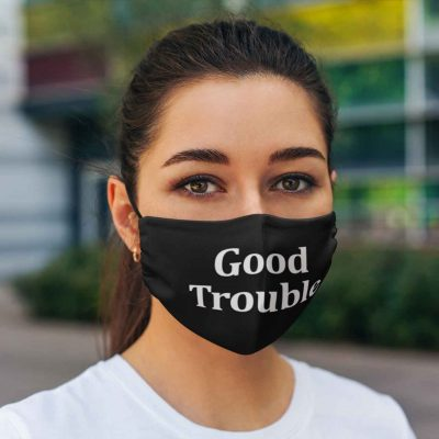 John Lewis Good Trouble cloth face mask