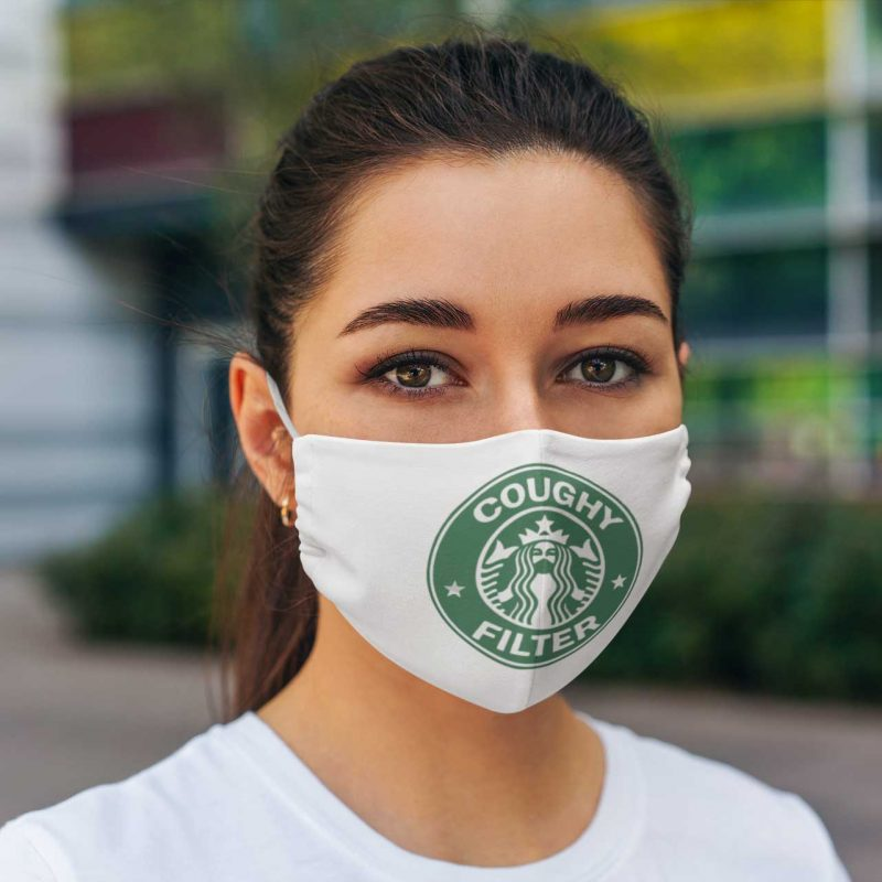 Starbucks Coughy Filter cloth face mask