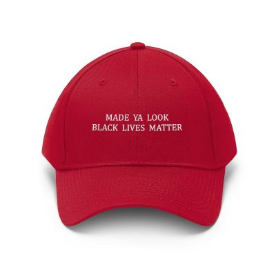 Made Ya Look Black Lives Matter hat red
