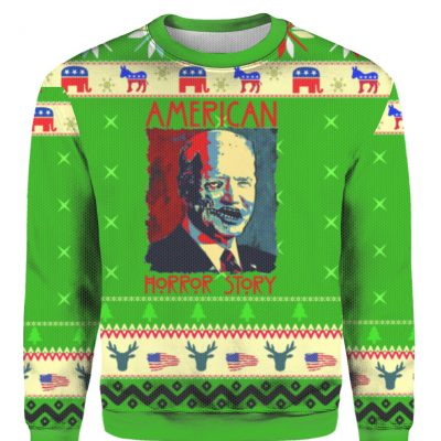 American Horror Story Joe Biden Ugly Christmas Sweater