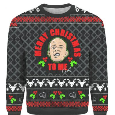 Anthony Smith merry christmas to me Ugly Christmas sweater