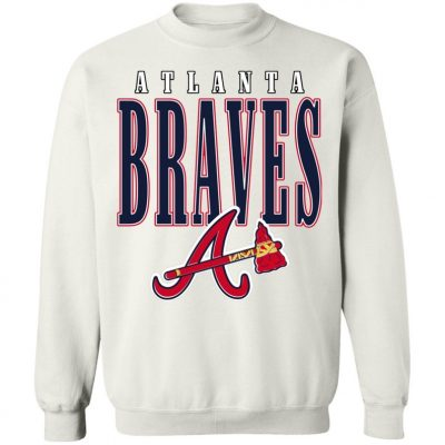 Atlanta Braves Retro 1990s MLB Crewneck Sweatshirt