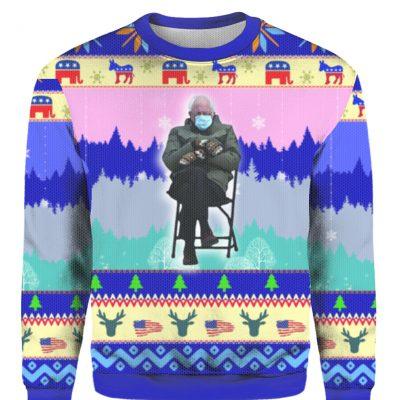Bernie Sanders Mittens Ugly Christmas Sweater