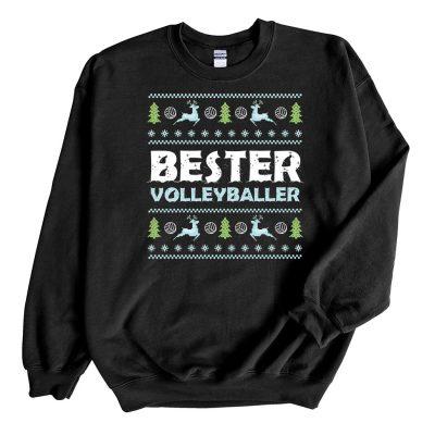 Black Sweatshirt Bester Volleyballer Ugly Christmas Sweater