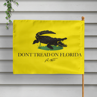 Dont tread on Florida Alligator Flag 2